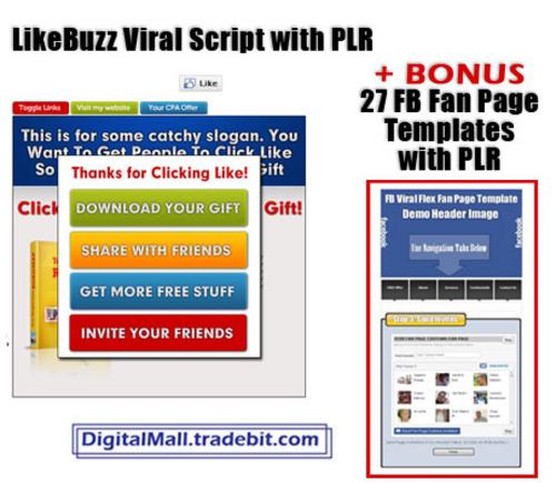 Product picture LikeBuzz Viral Script PLR + BONUS PLR