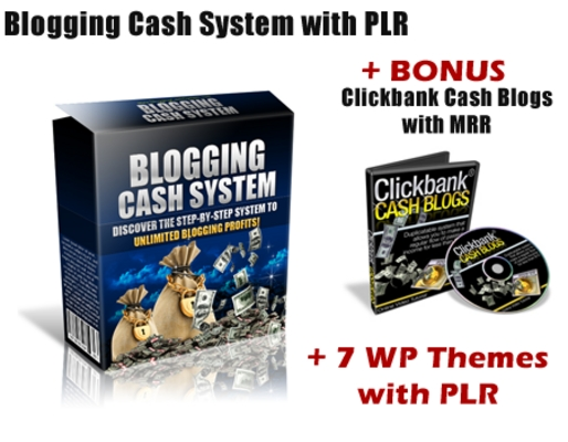 Product picture Blogging Cash System with PLR