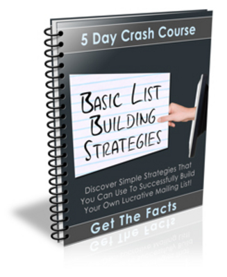 Product picture Basic List Building Strategies Ecourse PLR + BONUS